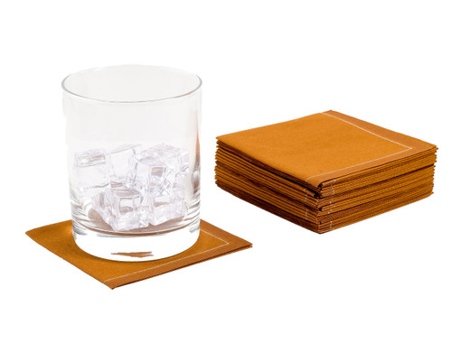 Caramel Cotton 1/4 Fold Cocktail Napkins - 140 GSM (600 x)