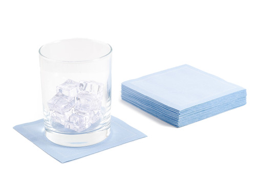 "Sky Blue Cotton Cocktail - 4.5"" x 4.5"" - 50 Units"