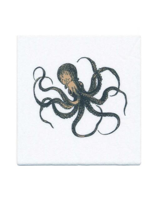 Disposable Napkins - 20 Units Per Pack - Vintage Squid