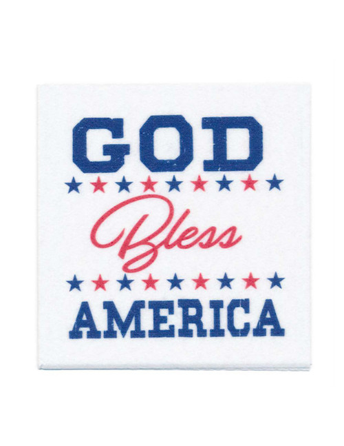 Disposable Napkins – 20 Units Per Pack – God Bless America (Blue)