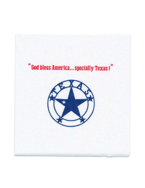 Disposable Napkins – 20 Units Per Pack – God Bless America, 'specially Texas