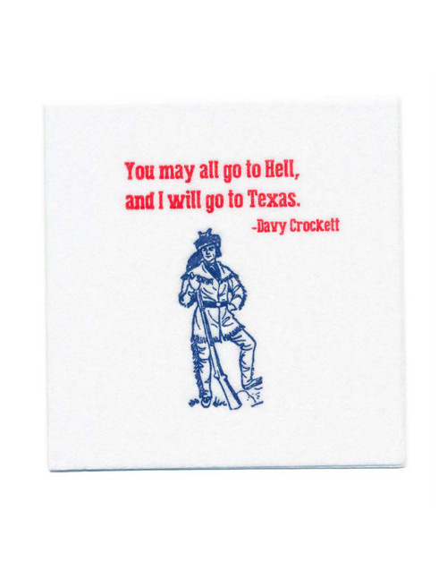 Disposable Napkins – 20 Units Per Pack – Davy Crockett Quote
