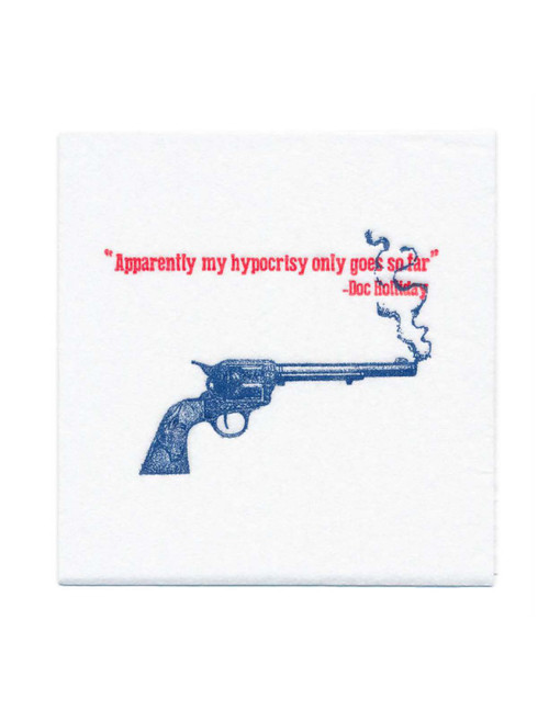 Disposable Napkins – 20 Units Per Pack – Doc Holliday Quote