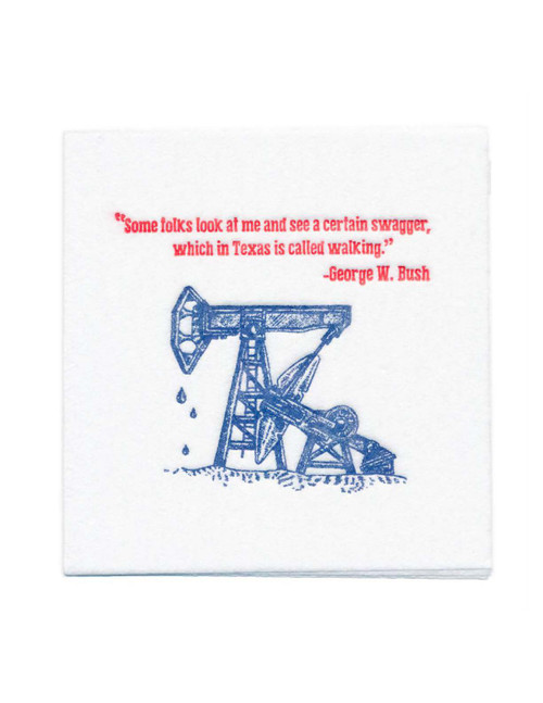 Disposable Napkins – 20 Units Per Pack – George W. Bush Quote