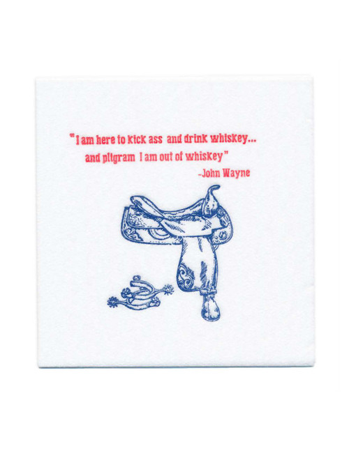 Disposable Napkins – 20 Units Per Pack – John Wayne Quote