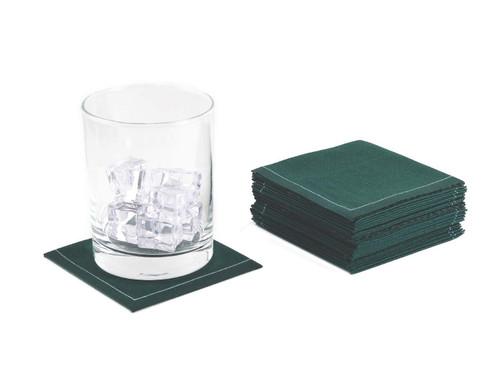 "British Racing Green Cotton 1/4 Fold Cocktail - 8"" x 8"" (folded 4"" x 4"") - 30 units"