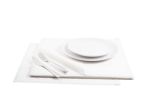 "White Cotton Premium Dinner - 15.8"" x 15.8"" - 25 Units"