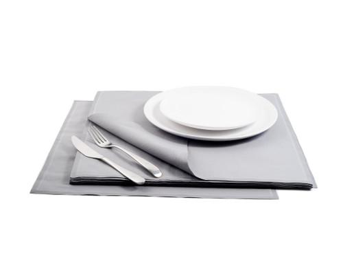Grey Cotton Premium Dinner Napkins – 200GSM (250 x)