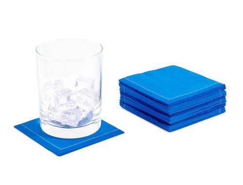 "Royal Blue Cotton 1/4 Fold Cocktail - 8"" x 8"" (folded 4"" x 4"") - 30 units"