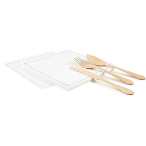 "White Linen Luncheon - 8"" x 8"" - 250 units"