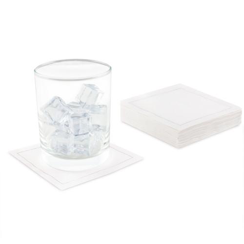 "White Linen Cocktail - 4.5"" x 4.5"" - 50 Units"