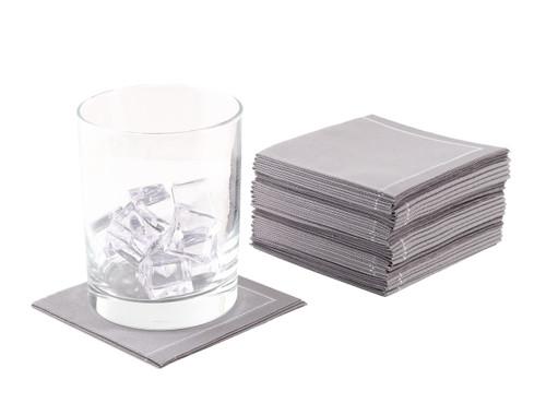"Grey Cotton 1/4 Fold Cocktail (200 GSM ) - 8"" x 8"" (folded 4"" x 4"") - 600 units"