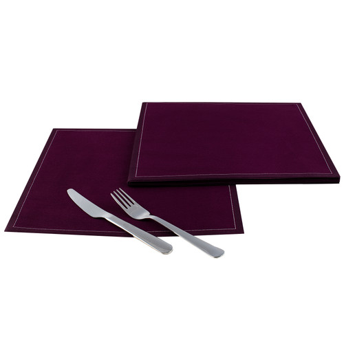 "Pickled Beet Cotton Dinner Napkins (200 GSM) - 12.6"" x 12.6"" - 250 Units"