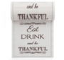 Eat Drink Be Thankful Linen Printed Cocktail Napkin Wholesale (10 Rolls)