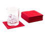 Red Cotton Cocktail Napkins (100 x )