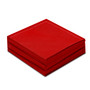 """Red Cotton 1/4 Fold Cocktail (140 GSM) - 8"""" x 8"""" (folded 4"""" x 4"""") - 600 units"""
