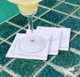 White 1/4 Fold Cocktail Napkins - 200 GSM (30 x)