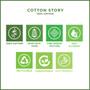 "Grey Cotton 1/4 Fold Cocktail Premium - 8"" x 8"" (folded 4"" x 4"") - 30 units"