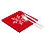 """Snowflake Red Cotton Luncheon - 8"""" x 8"""" - 250 units"""