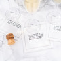 """White Cotton Cocktail with Marriage Quotes - 4.5"""" x 4.5"""" - 50 units"""