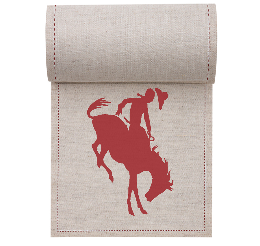 "Rodeo Linen Printed Cocktail Napkin - 4.5"" x 4.5"" - 50 Units Per Roll"
