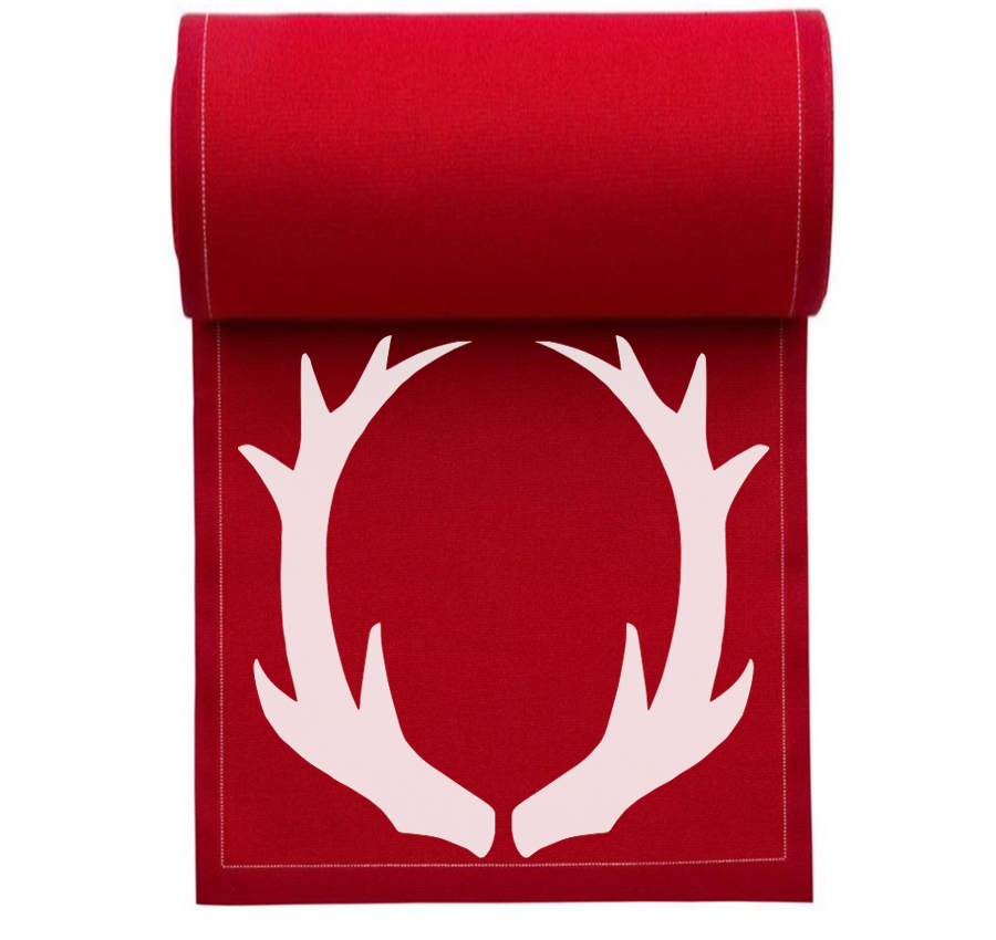 "Antlers Cotton Printed Cocktail Napkin - 4.5"" x 4.5"" - 50 Units Per Roll"