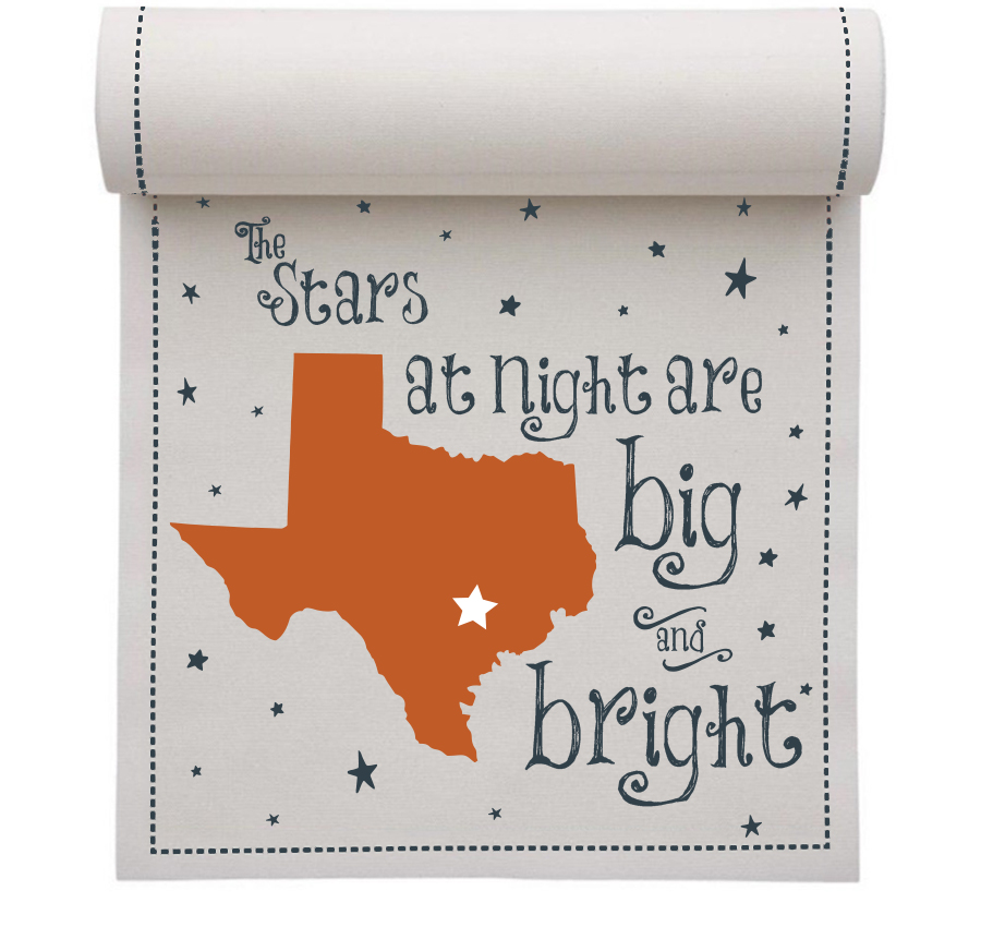 "Big and Bright Linen Printed Luncheon - 8"" x 8"" - 20 Units Per Roll"