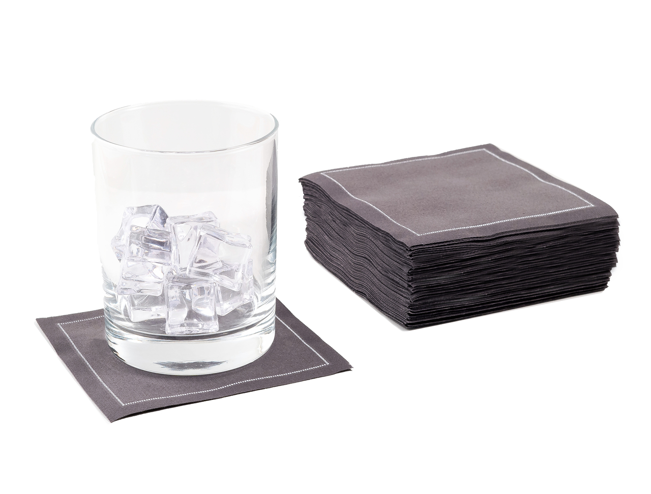 "Anthracite Grey Cotton Cocktail (200 GSM) - 4.5"" x 4.5"" - 100 units"