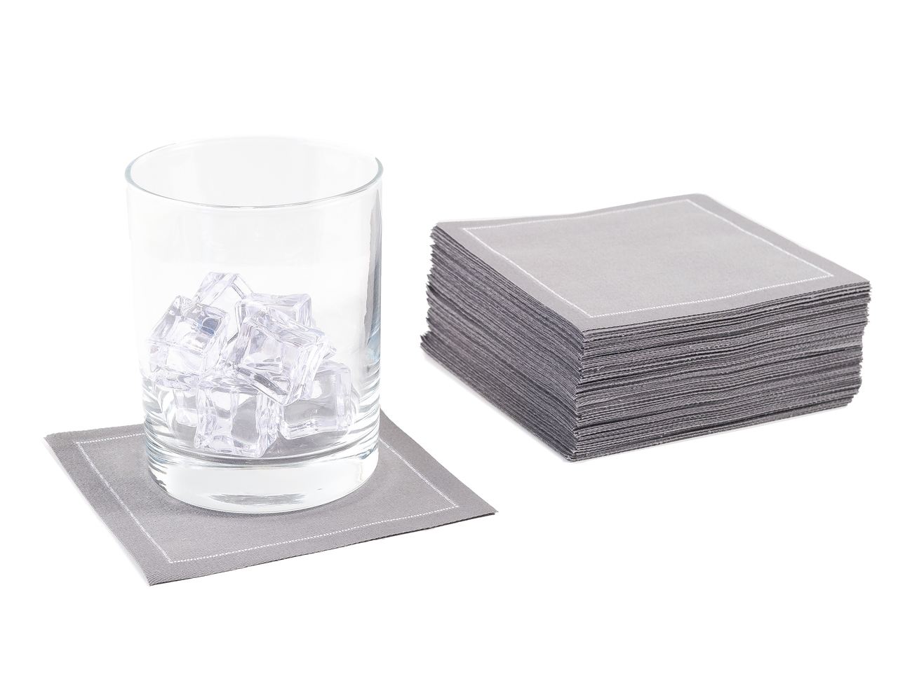 "Grey Cotton Cocktail (200 GSM) - 4.5"" x 4.5"" - 100 units"
