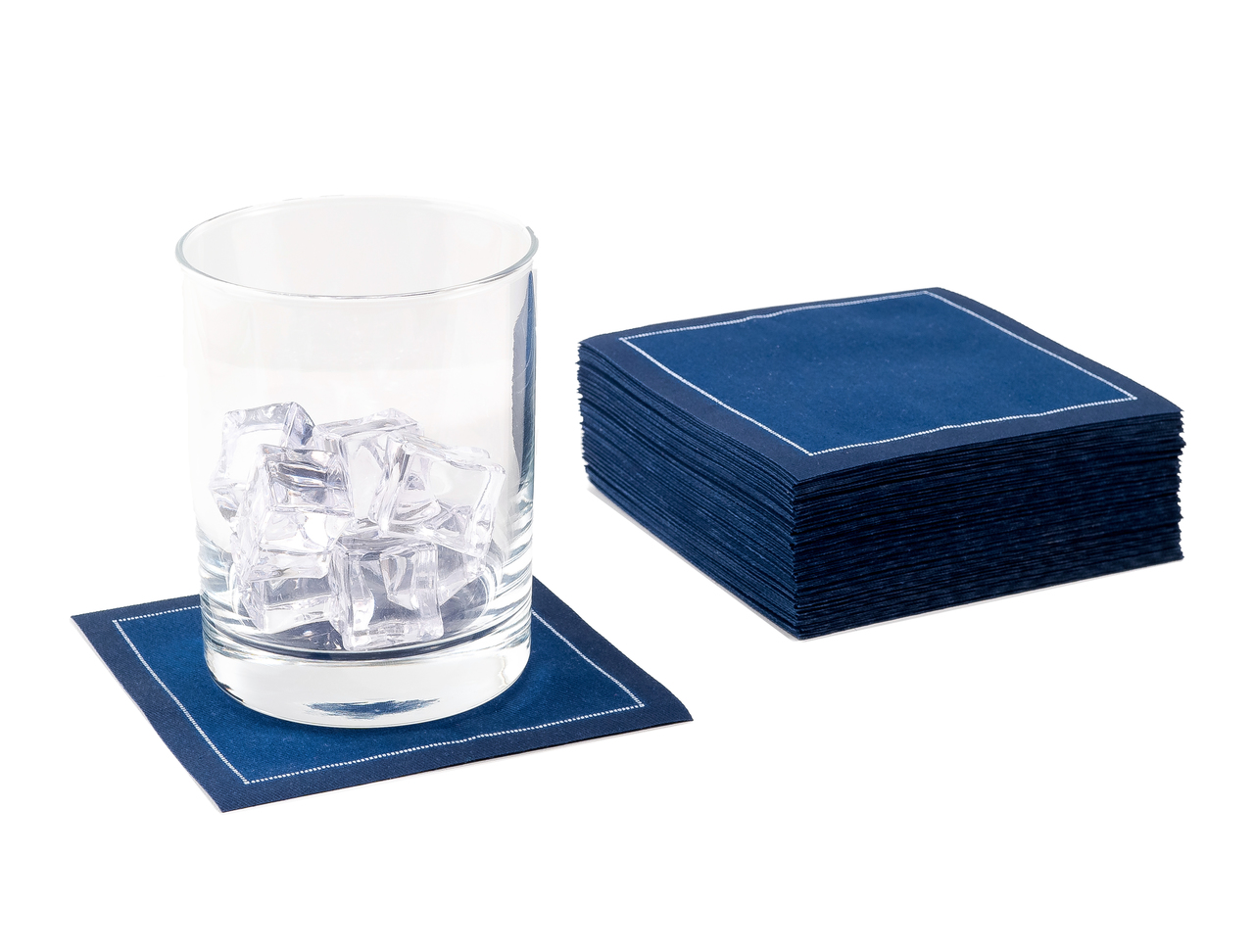 "Midnight Blue Cotton Cocktail (200 GSM) - 4.5"" x 4.5"" - 1200 Units"