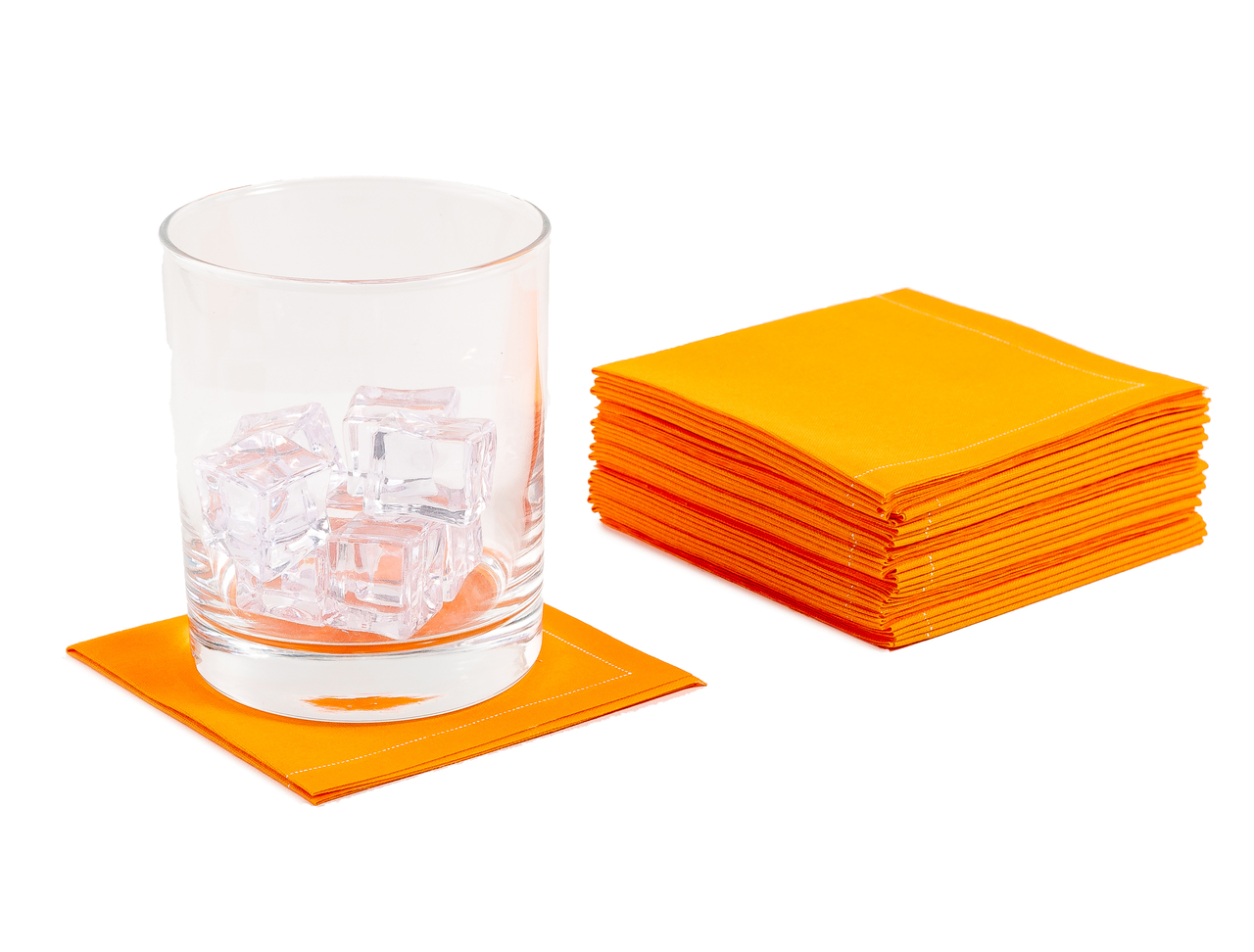 "Persimmon Cotton 1/4 Fold Cocktail (140 GSM) - 8"" x 8"" (folded 4"" x 4"") - 600 units"