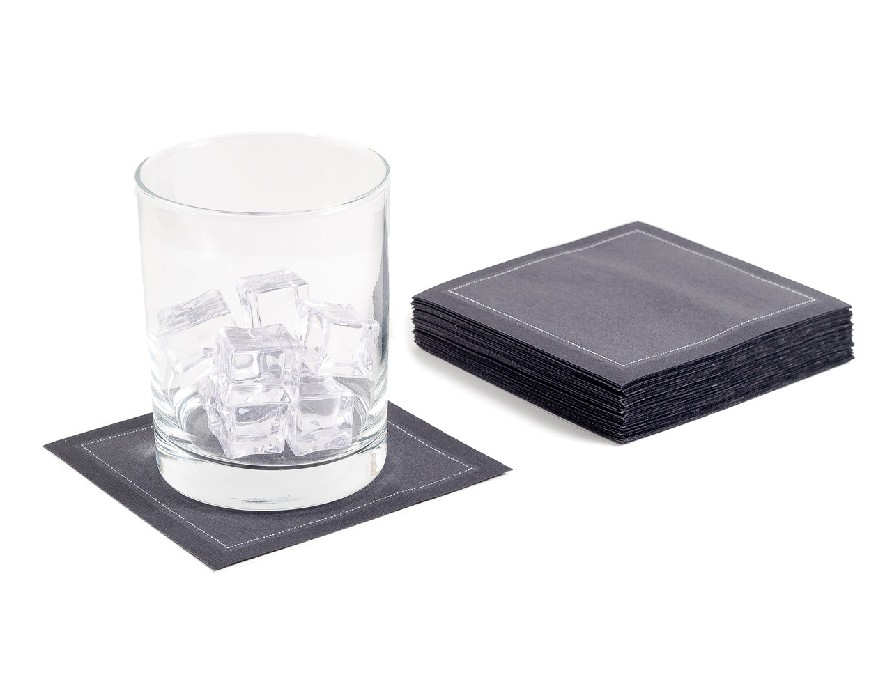 """Anthracite Grey Cotton Cocktail -  4.5"""" x 4.5"""" - 50 Units"""