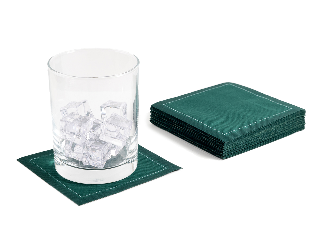 "British Racing Green Cotton Cocktail (200 GSM) - 4.5"" x 4.5"" - 1200 Units"