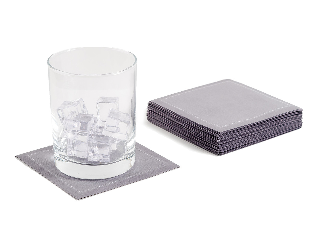"Grey Cotton Cocktail - 4.5"" x 4.5"" - 50 Units"