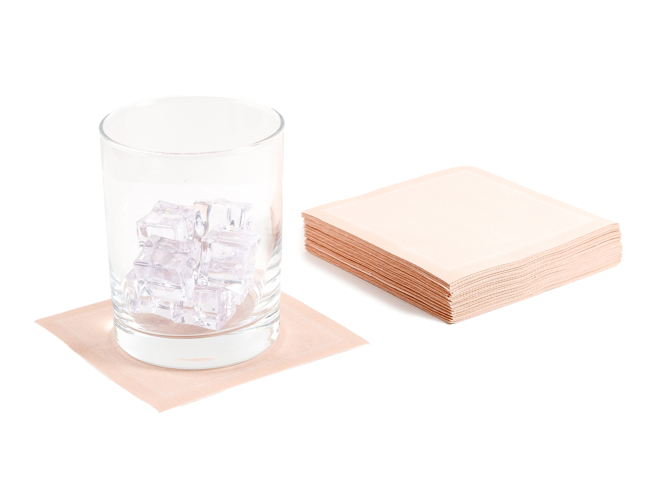 """Nude Cotton Cocktail (200 GSM) - 4.5"""" x 4.5"""" - 1200 Units"""