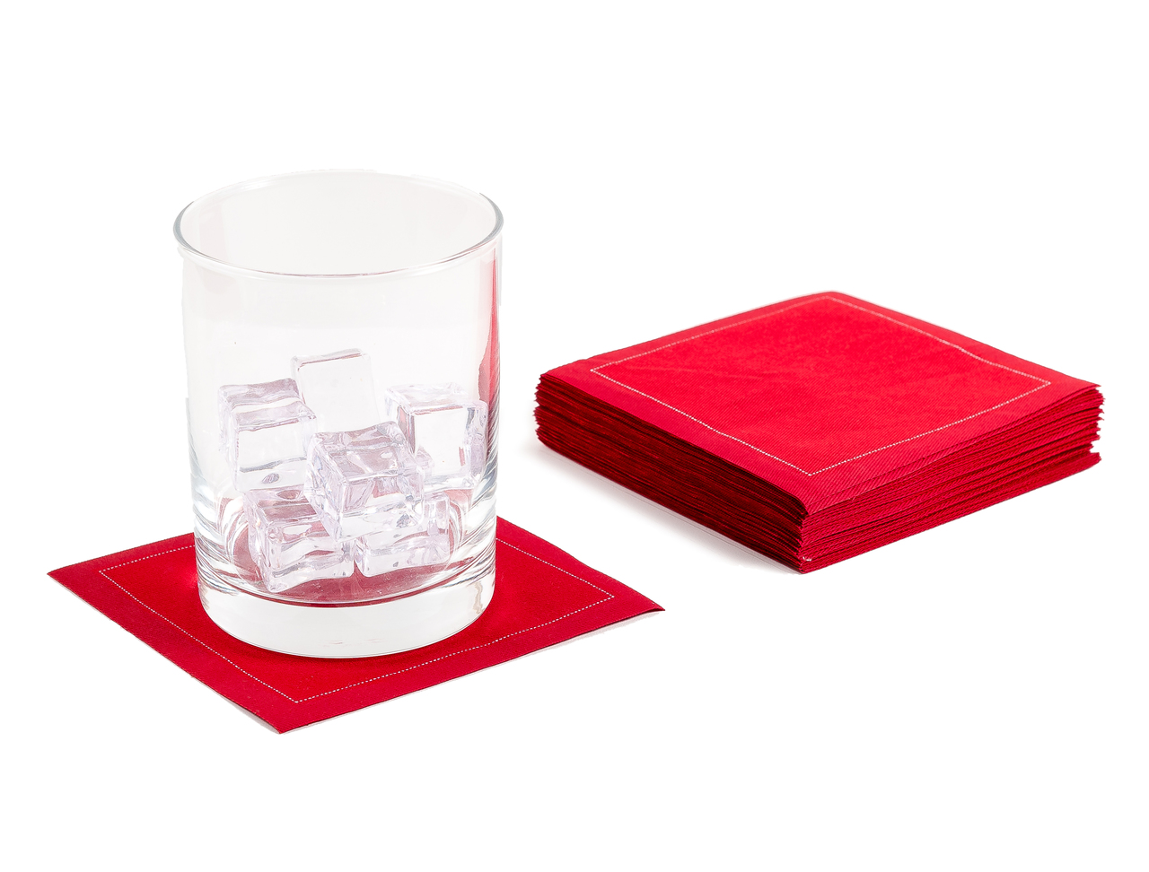 """Red Cotton Cocktail - 4.5"""" x 4.5"""" - 50 Units"""