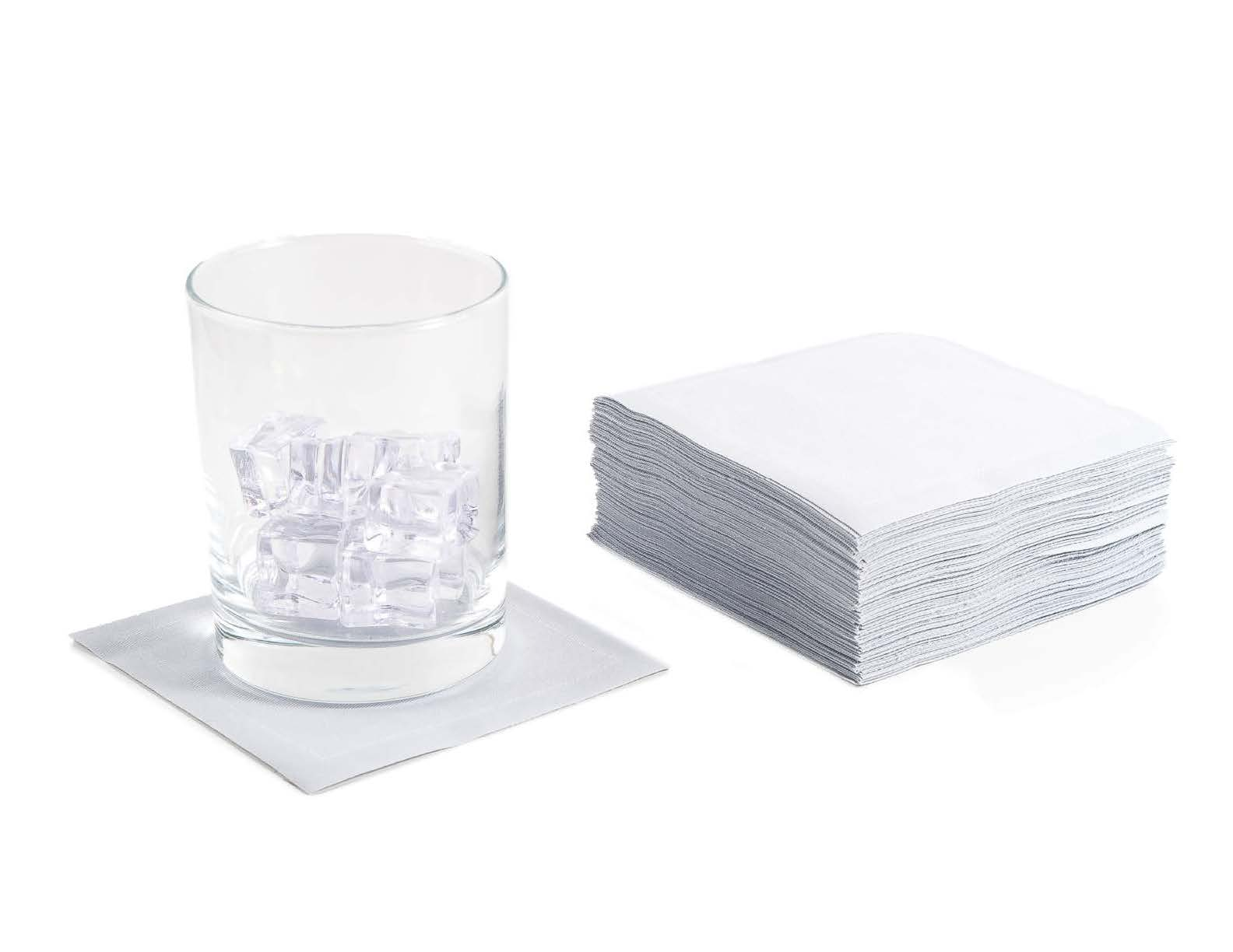 """Pearl Grey Cotton Cocktail (200 GSM) - 4.5"""" x 4.5"""" - 1200 Units"""