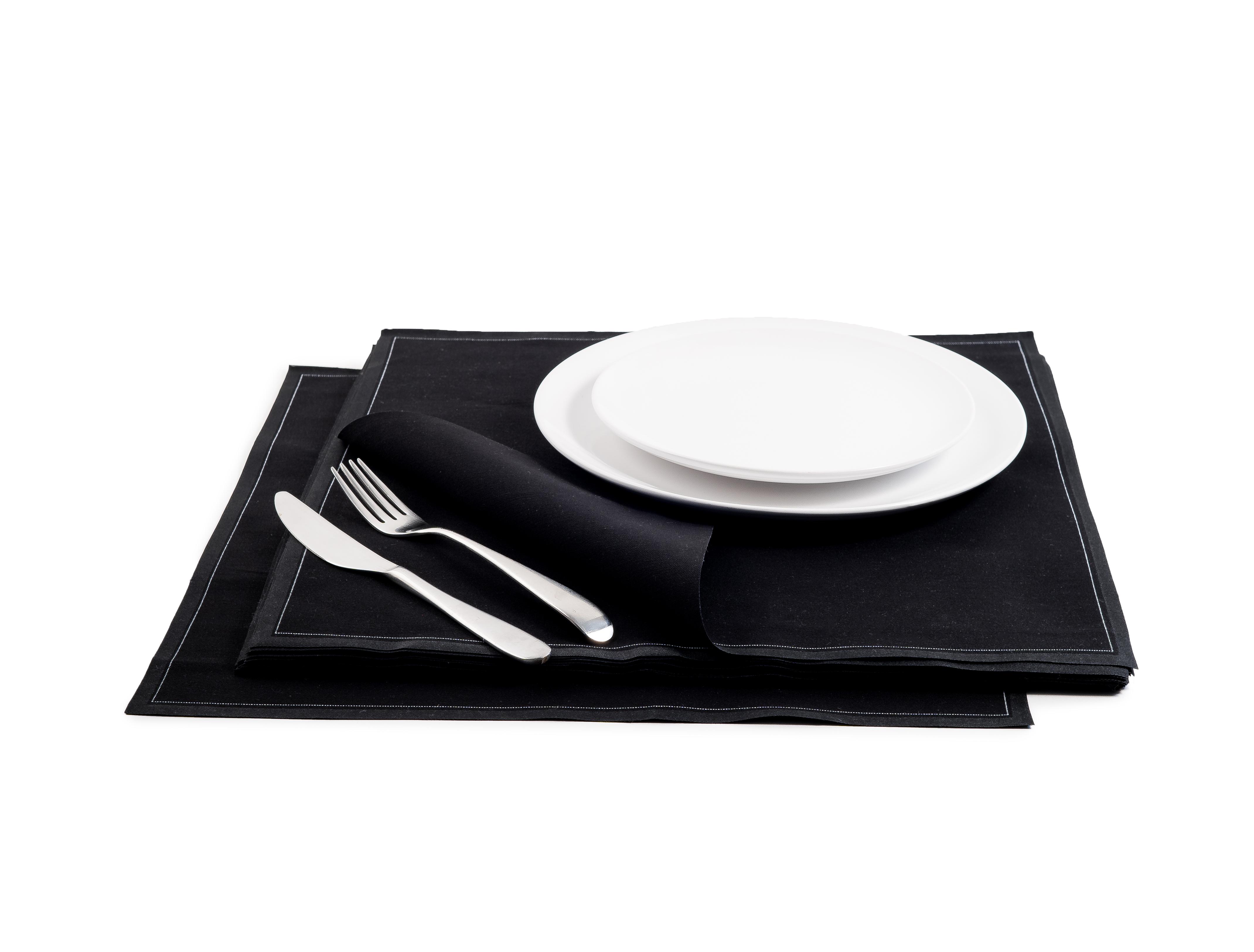 """Black Cotton Premium Dinner (200 GSM) - 15.8"""" x 15.8"""" - 250 Units"""