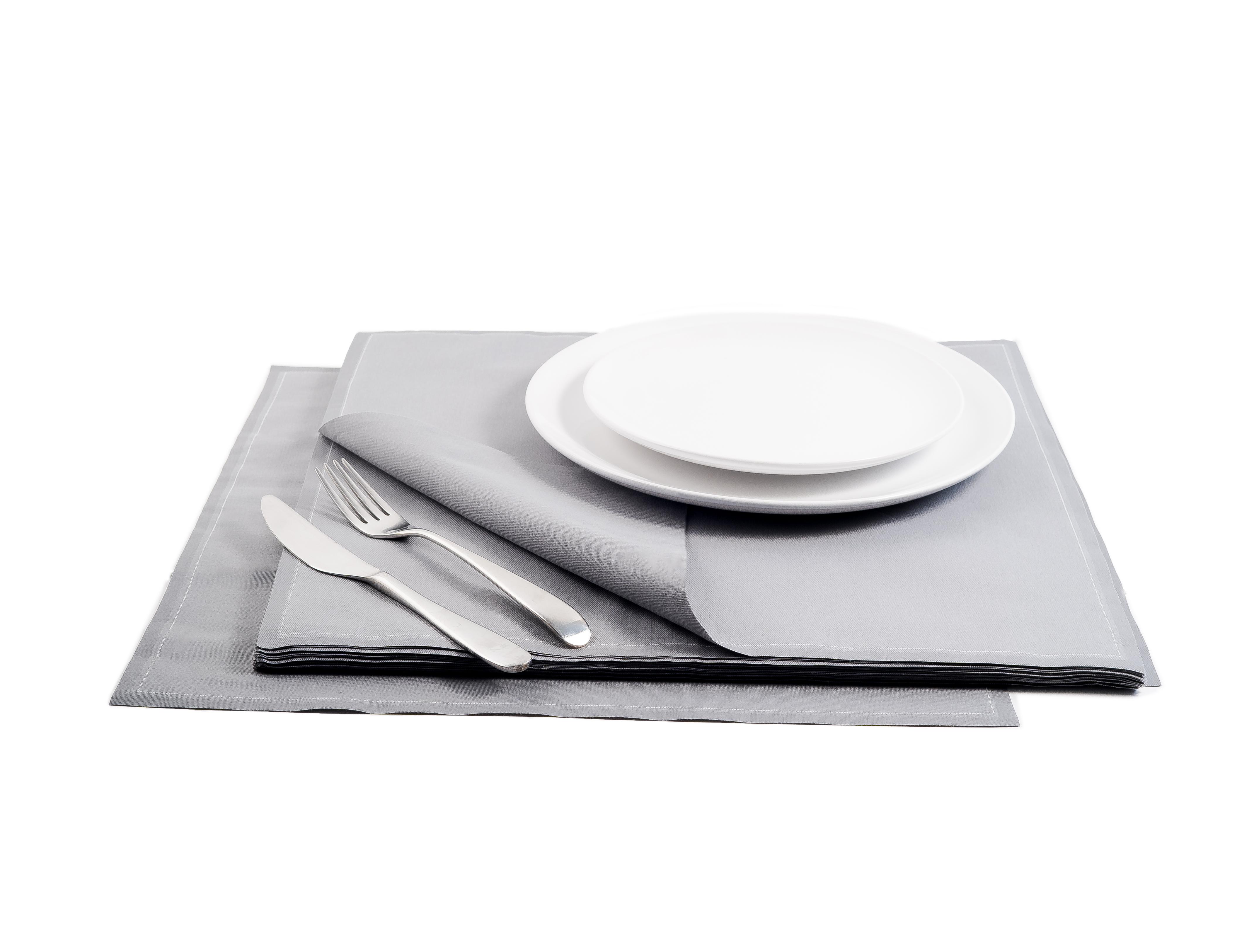 "Grey Cotton Premium Dinner (200 GSM) - 15.8"" x 15.8"" - 250 Units"