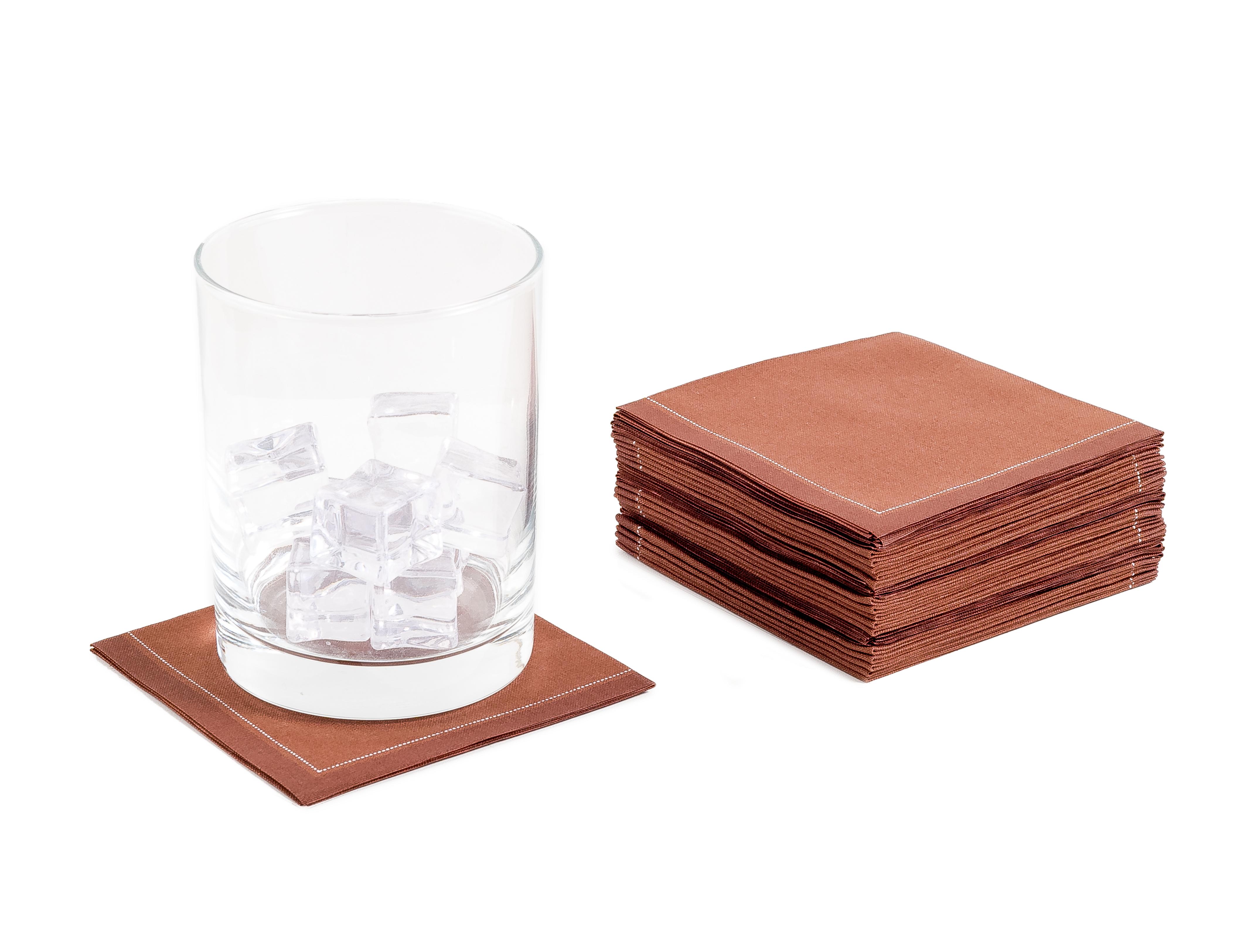 "Friar Brown Cotton 1/4 Fold Cocktail - 8"" x 8"" (folded 4"" x 4"") - 30 units"