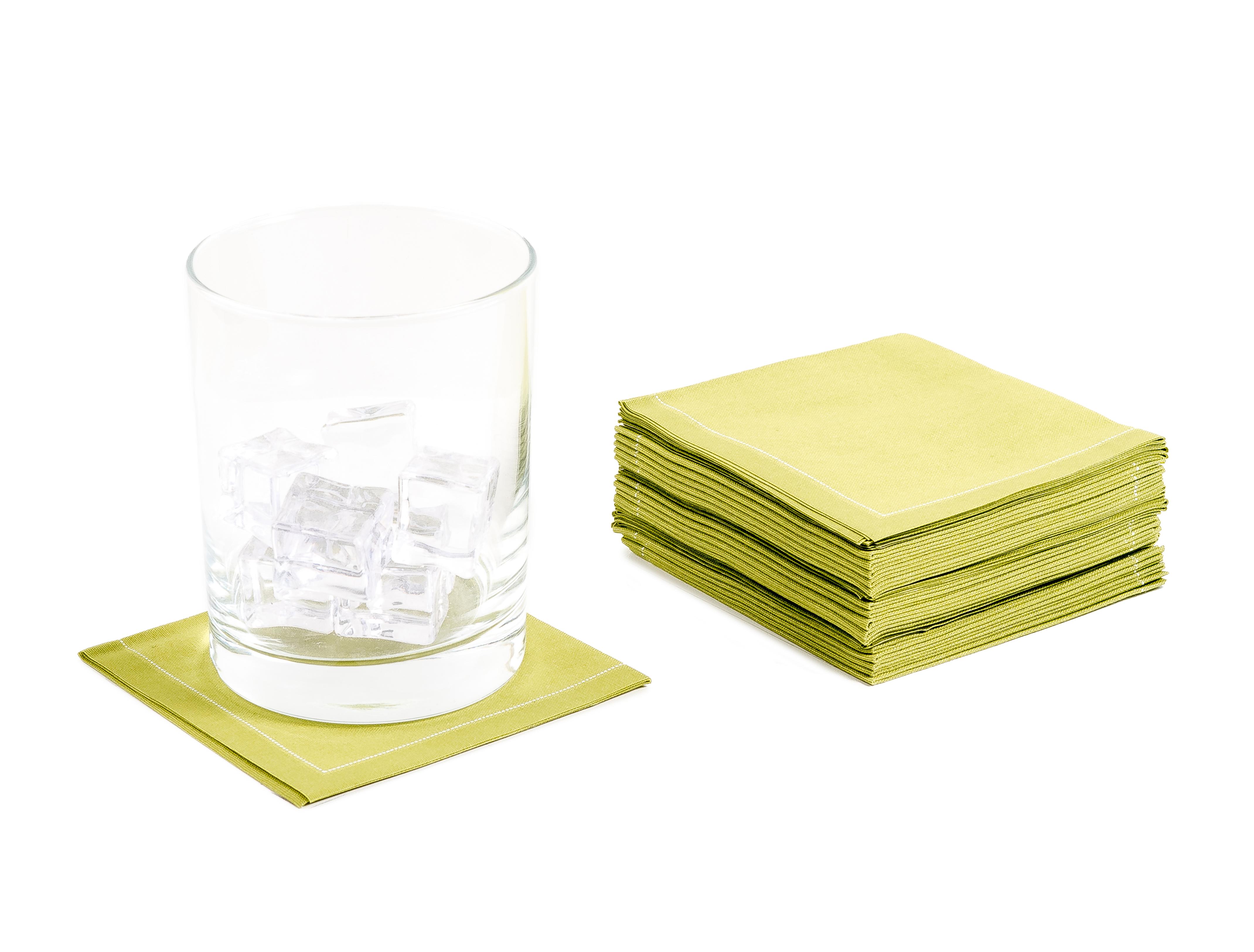 "Pear Cotton 1/4 Fold Cocktail - 8"" x 8"" (folded 4"" x 4"") - 30 units"