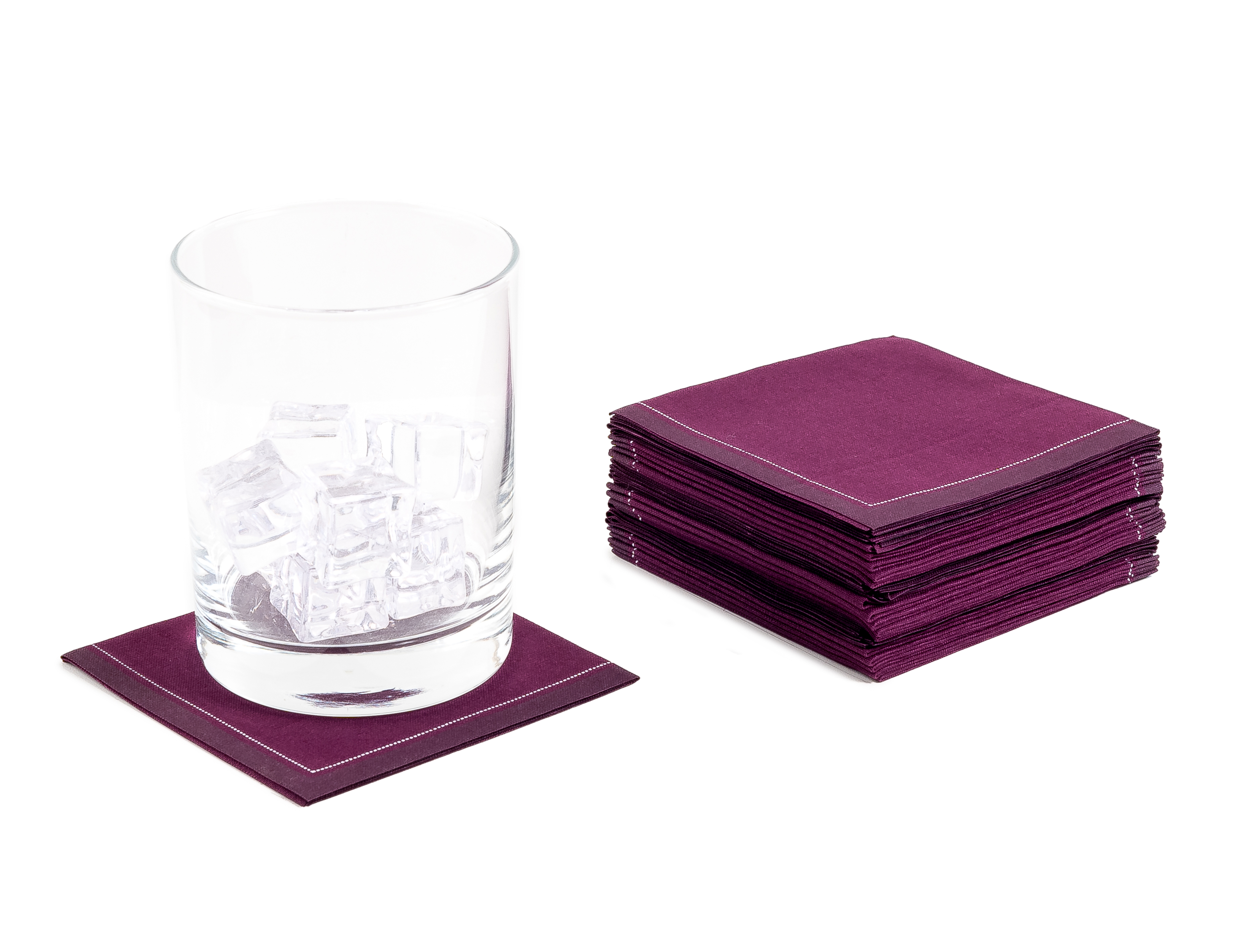 "Pickled Beet Cotton 1/4 Fold Cocktail (140 GSM) - 8"" x 8"" (folded 4"" x 4"")- 600 units"