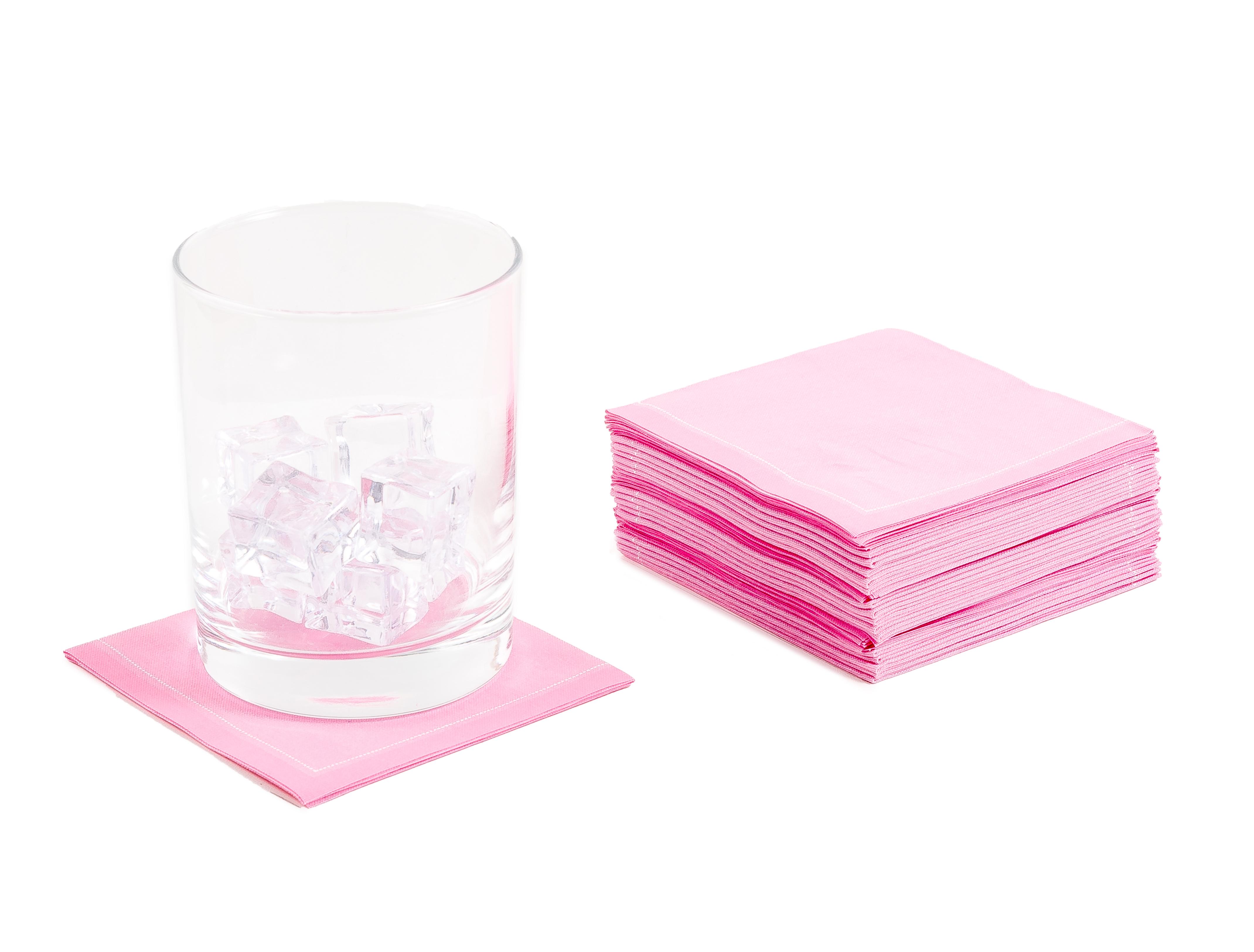 "Rose Cotton 1/4 Fold Cocktail - 8"" x 8"" (folded 4"" x 4"") - 30 units"