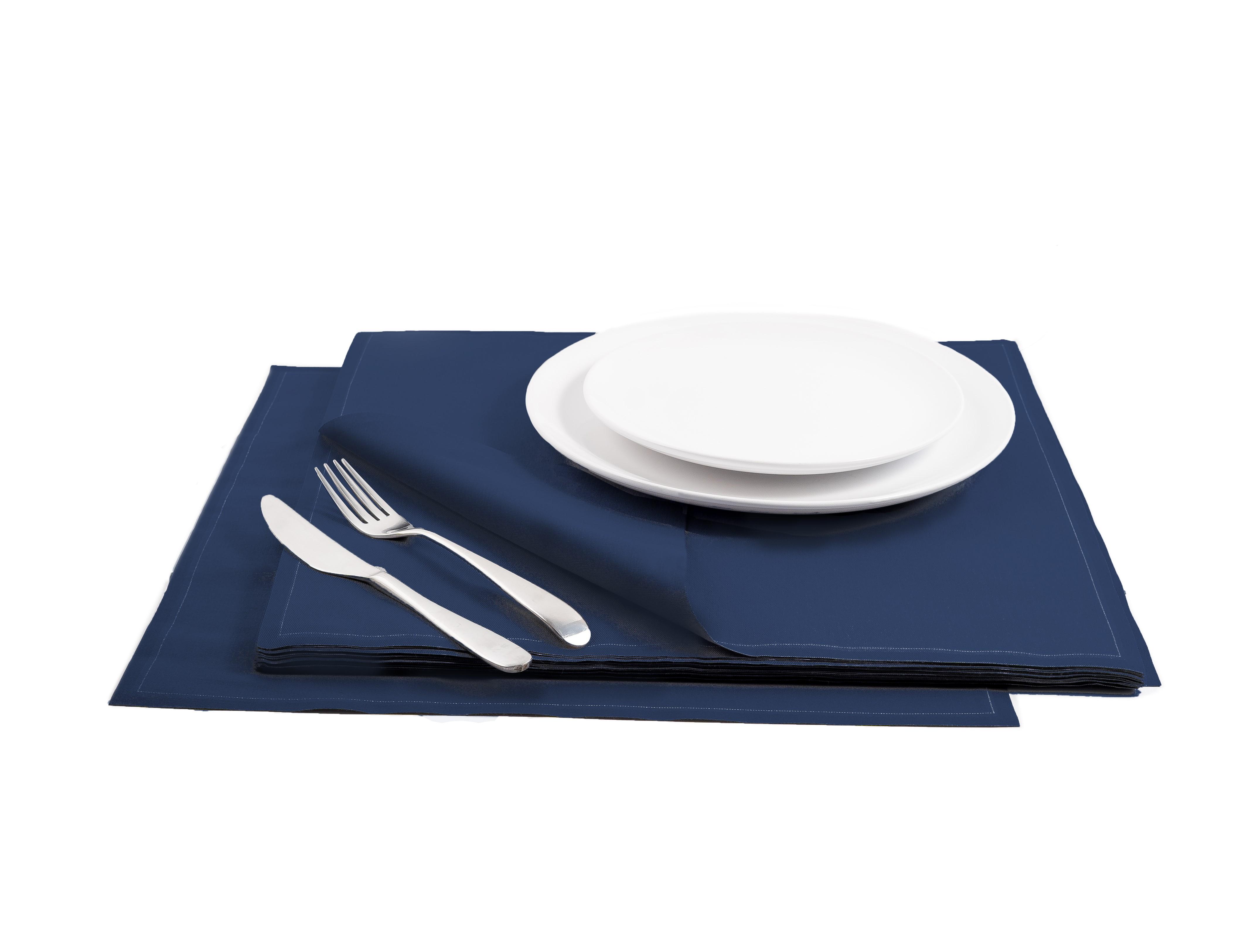 "Midnight Blue Cotton Premium Dinner (200 GSM) - 15.8"" x 15.8"" - 250 Units"