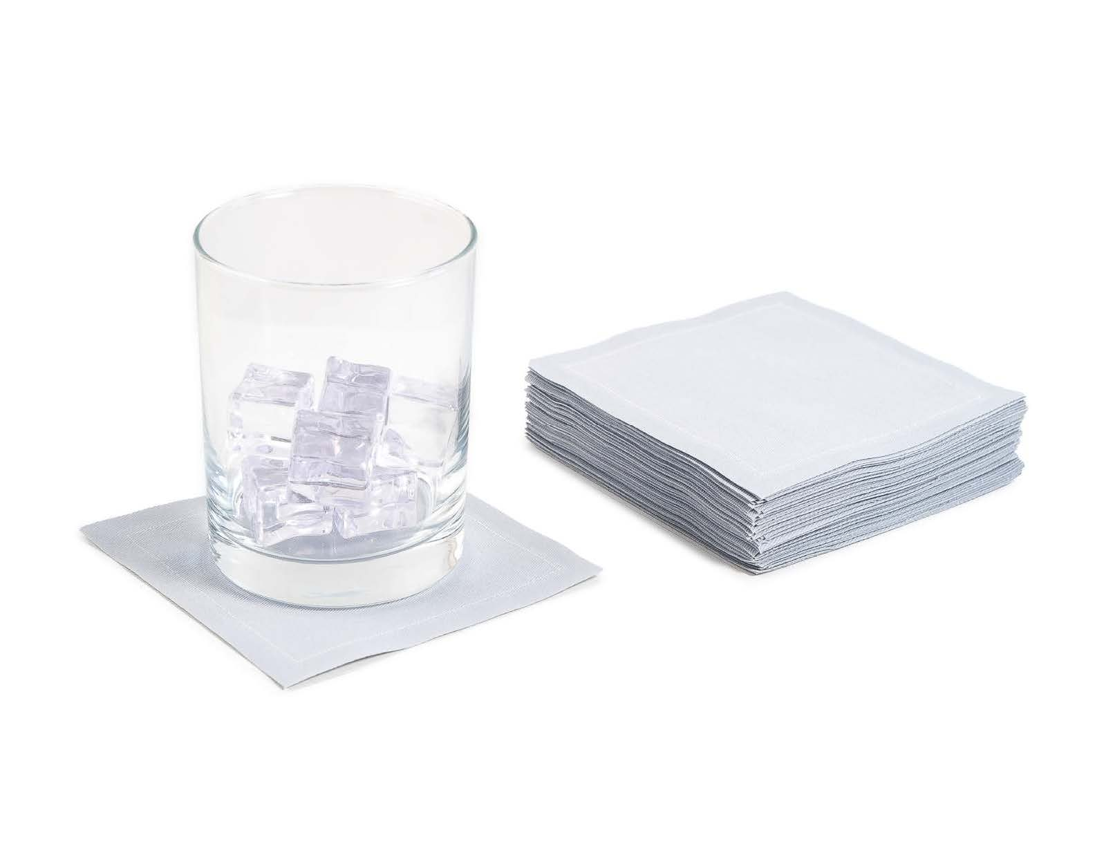 """Pearl Grey Cotton Cocktail - 4.5"""" x 4.5"""" - 50 Units"""