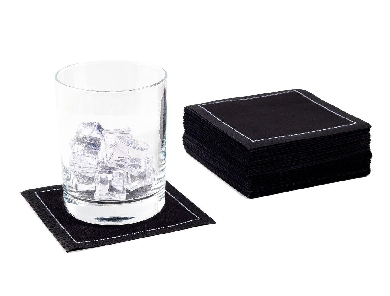 """Black Cotton Cocktail - 4.5"""" x 4.5"""" - 100 Units"""