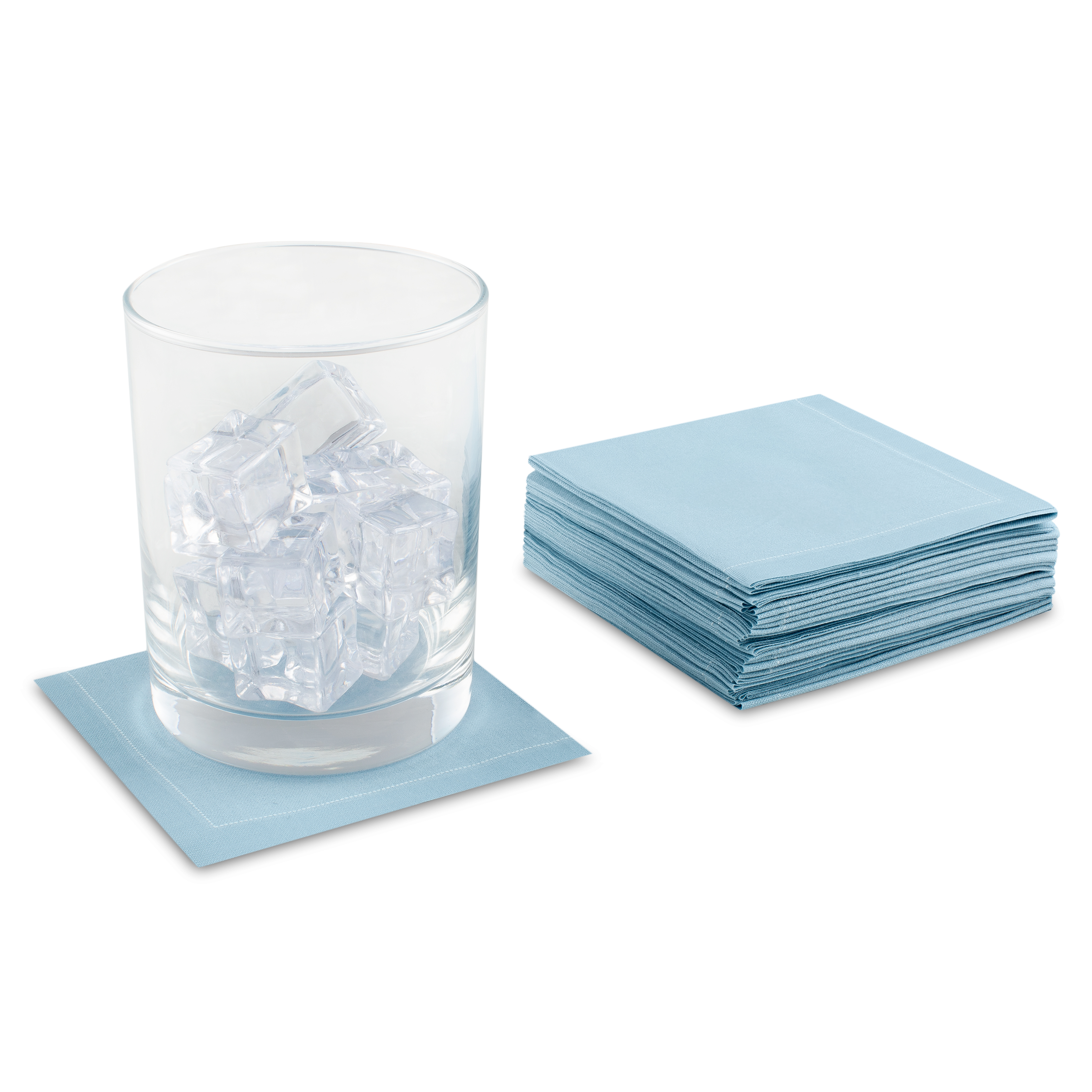 "Sky Blue Cotton 1/4 Fold Cocktail - 8"" x 8"" (folded 4"" x 4"") - 30 units"