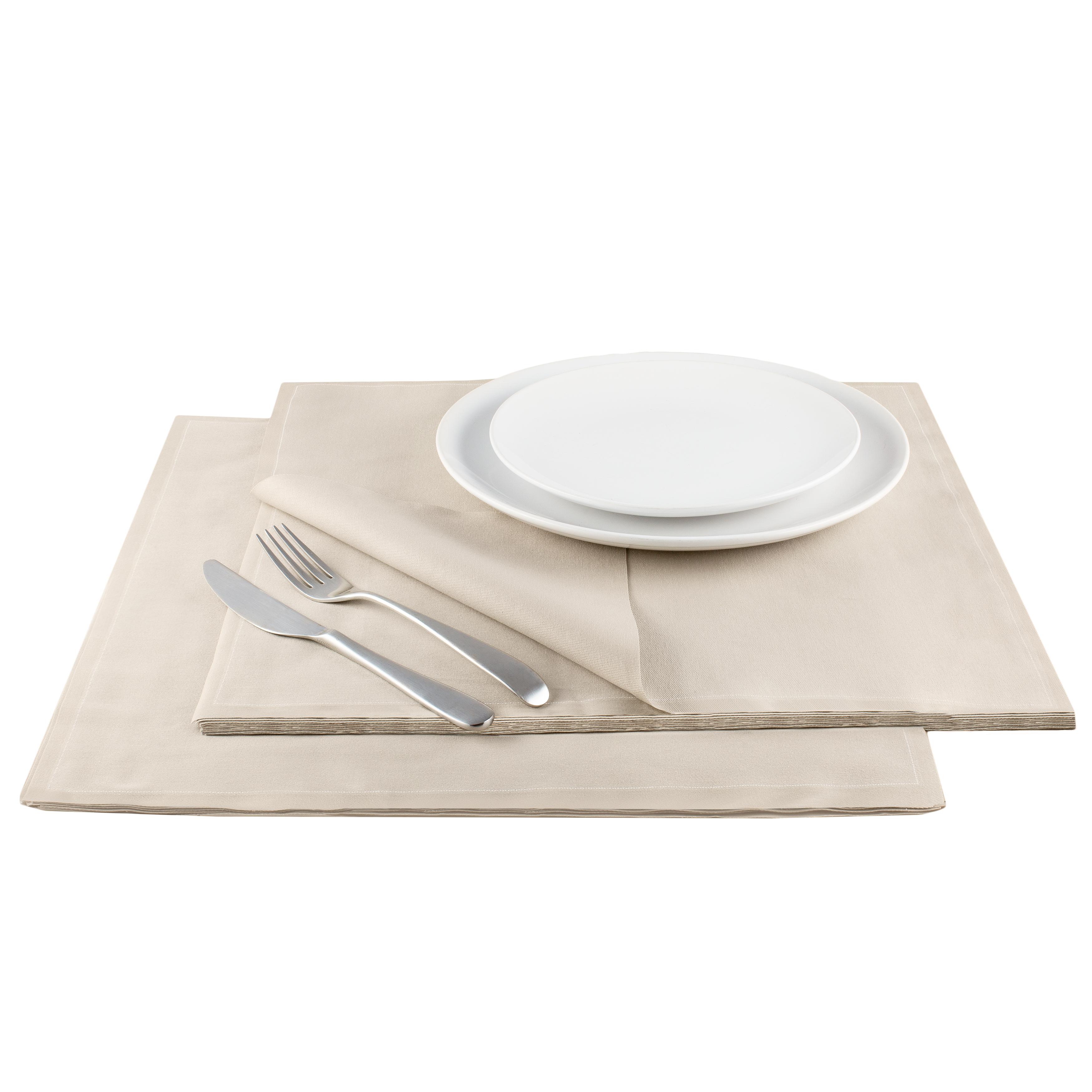 "Sand Cotton Premium Dinner - 15.8"" x 15.8"" - 25 Units"