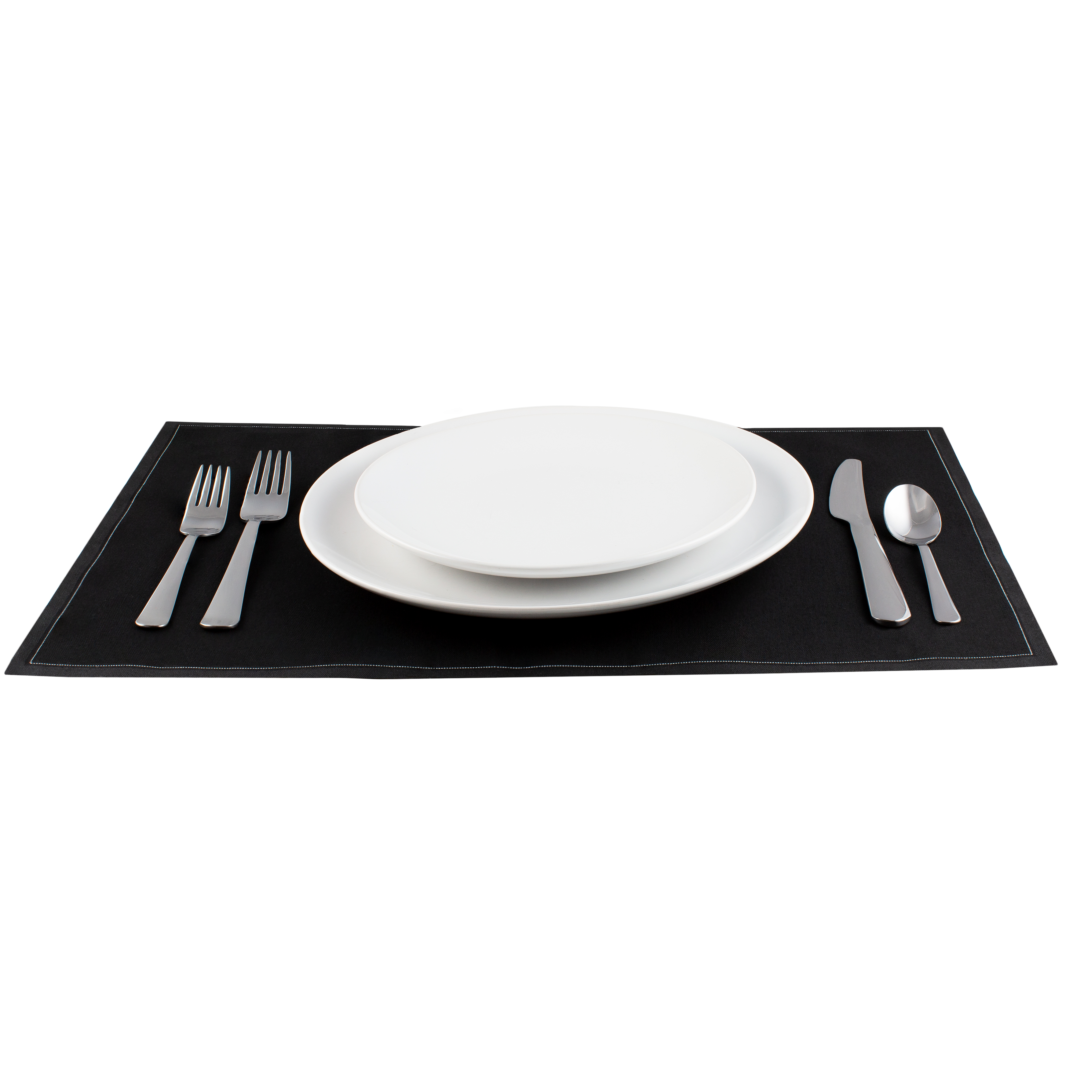 "Black Cotton Placemat (200 GSM) - 18.9"" x 12.6"" - 250 Units"