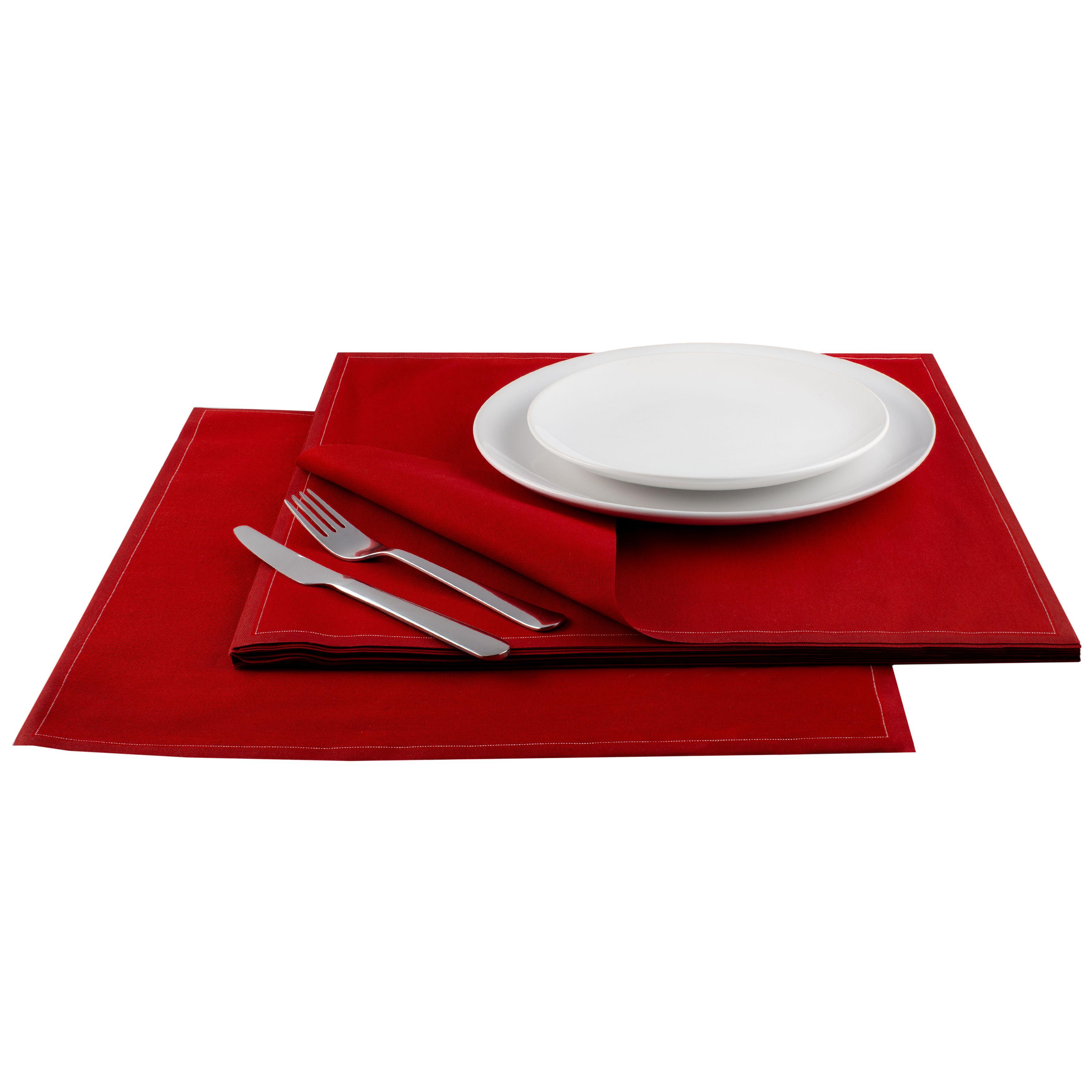 "Red Cotton Premium Dinner (200 GSM) - 15.8"" x 15.8"" - 250 Units"